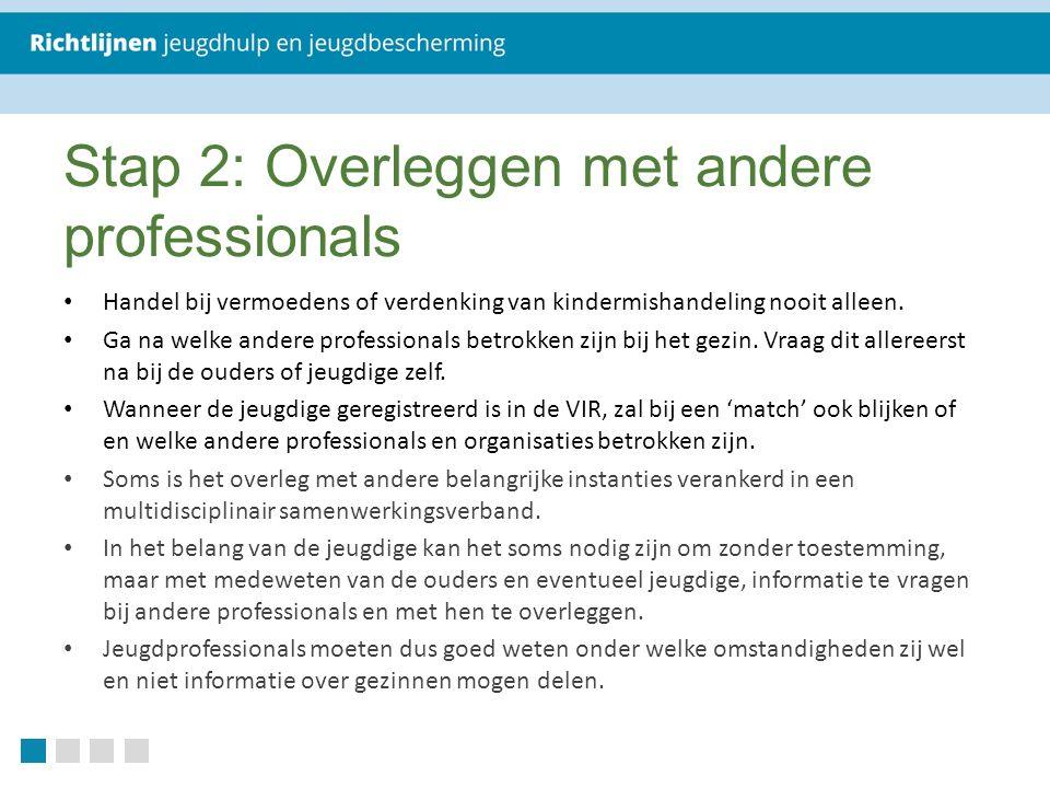 Stap 2: Overleggen met andere professionals