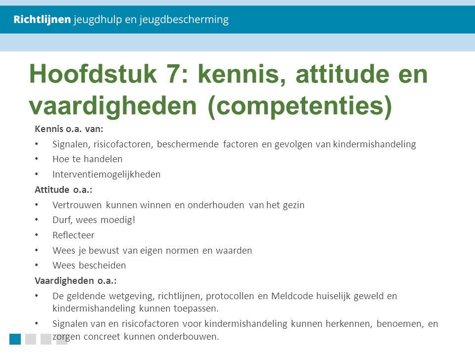 Hoofdstuk 7: kennis, attitude en vaardigheden (competenties)