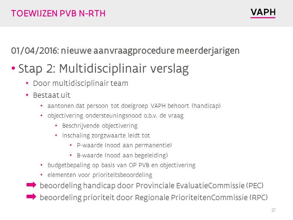 Stap 2: Multidisciplinair verslag