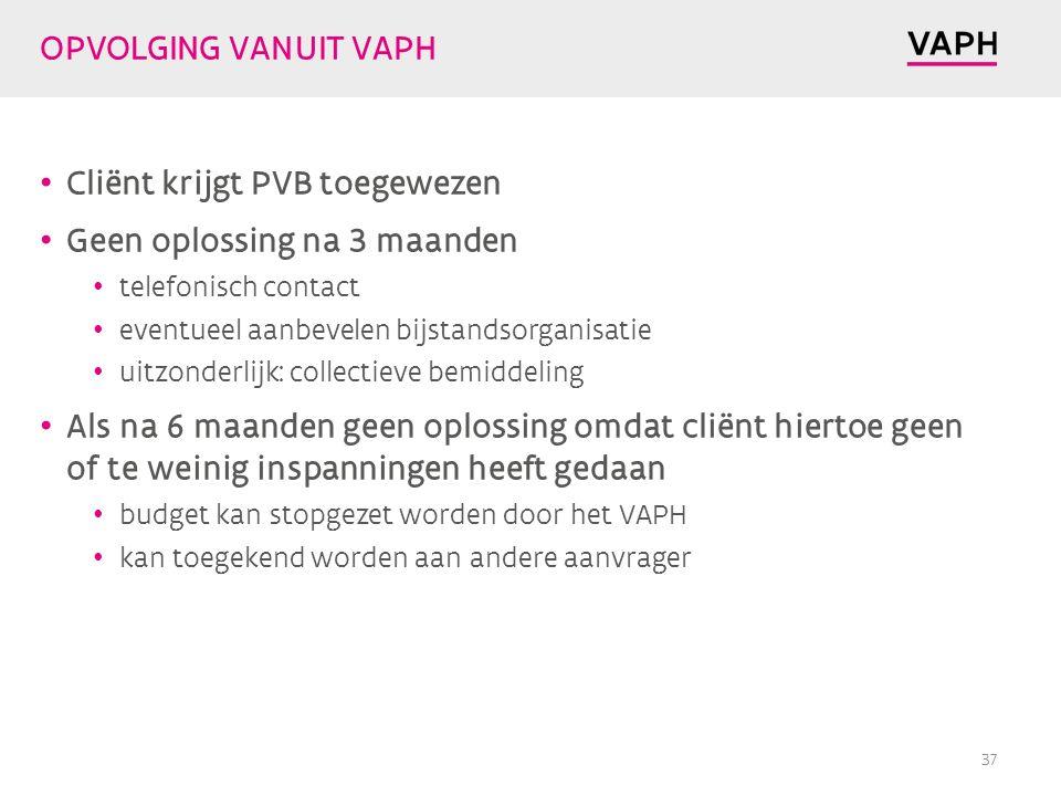 Cliënt krijgt PVB toegewezen Geen oplossing na 3 maanden