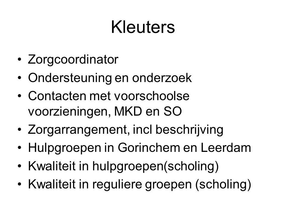 Kleuters Zorgcoordinator Ondersteuning en onderzoek