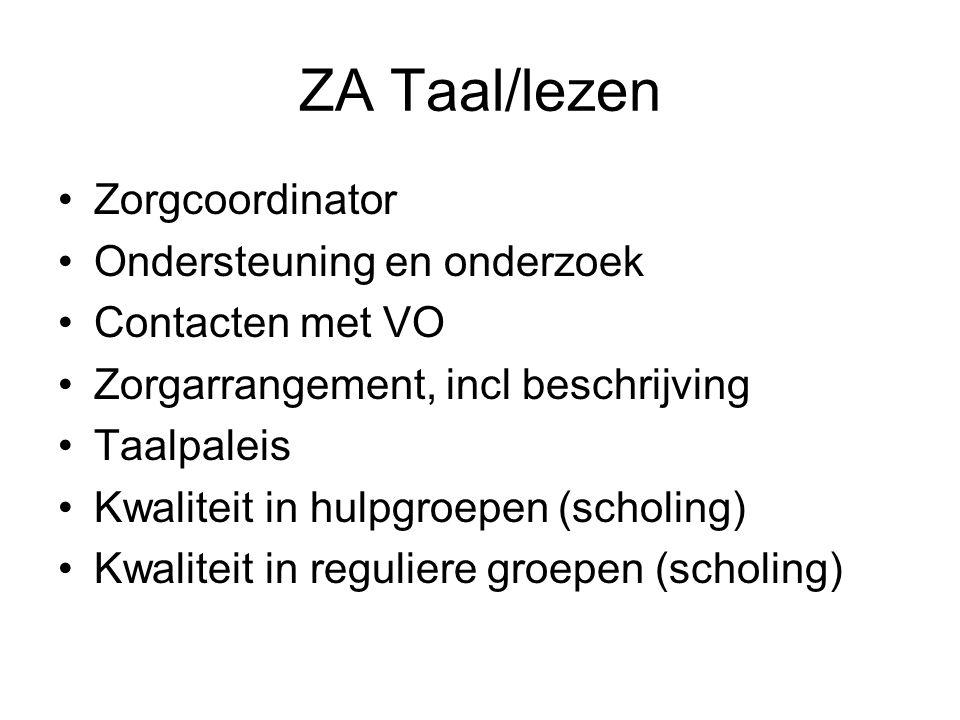ZA Taal/lezen Zorgcoordinator Ondersteuning en onderzoek