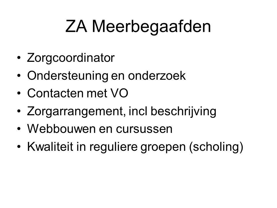 ZA Meerbegaafden Zorgcoordinator Ondersteuning en onderzoek