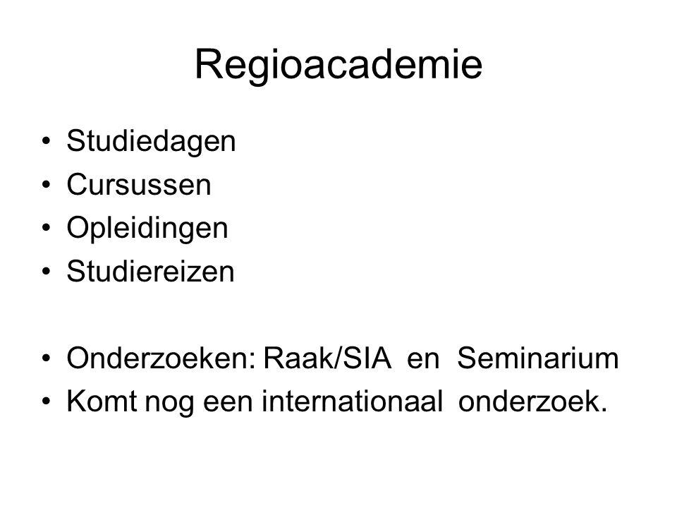 Regioacademie Studiedagen Cursussen Opleidingen Studiereizen