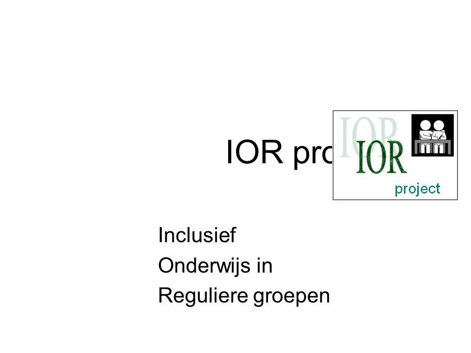 Inclusief Onderwijs in Reguliere groepen