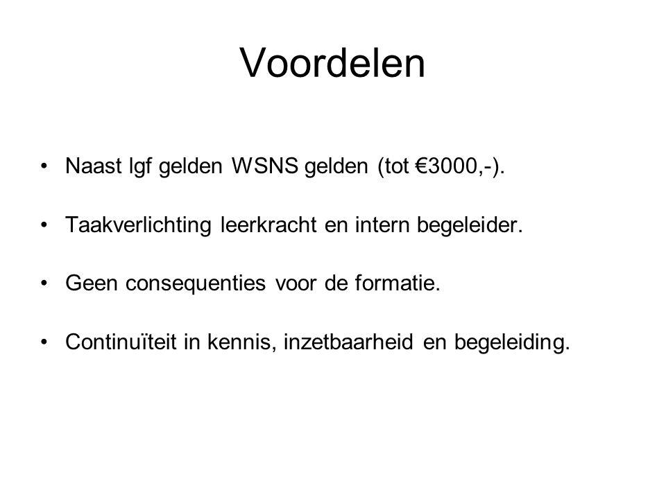 Voordelen Naast lgf gelden WSNS gelden (tot €3000,-).