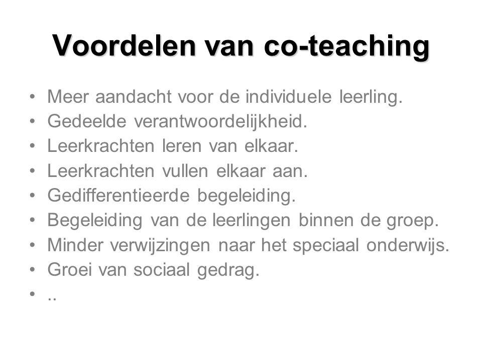 Voordelen van co-teaching