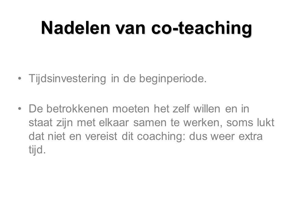 Nadelen van co-teaching
