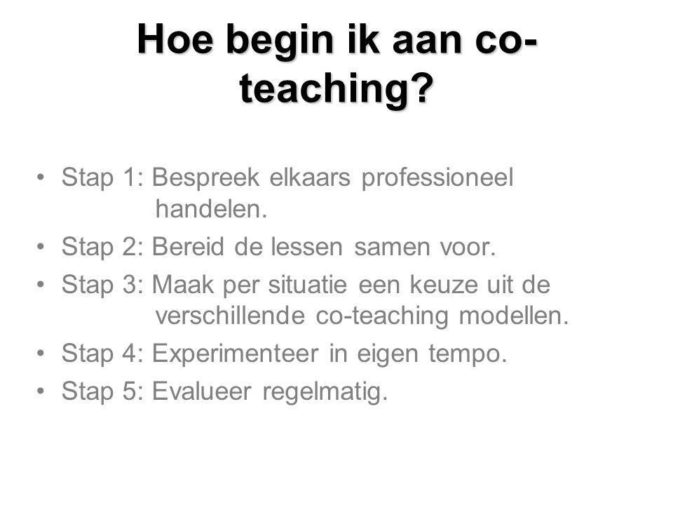 Hoe begin ik aan co-teaching