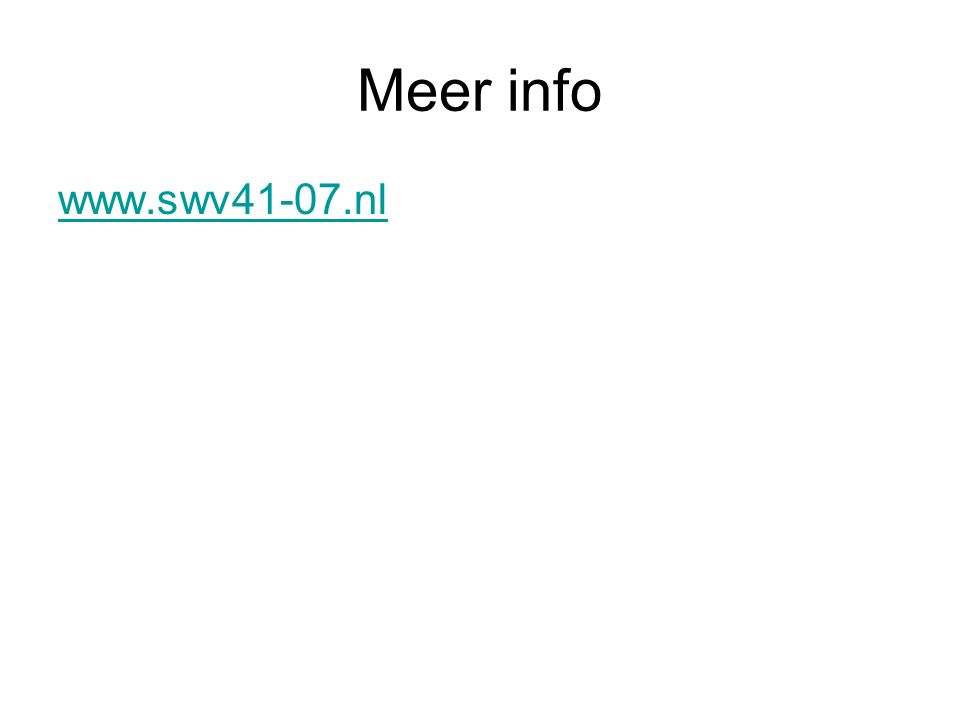 Meer info www.swv41-07.nl