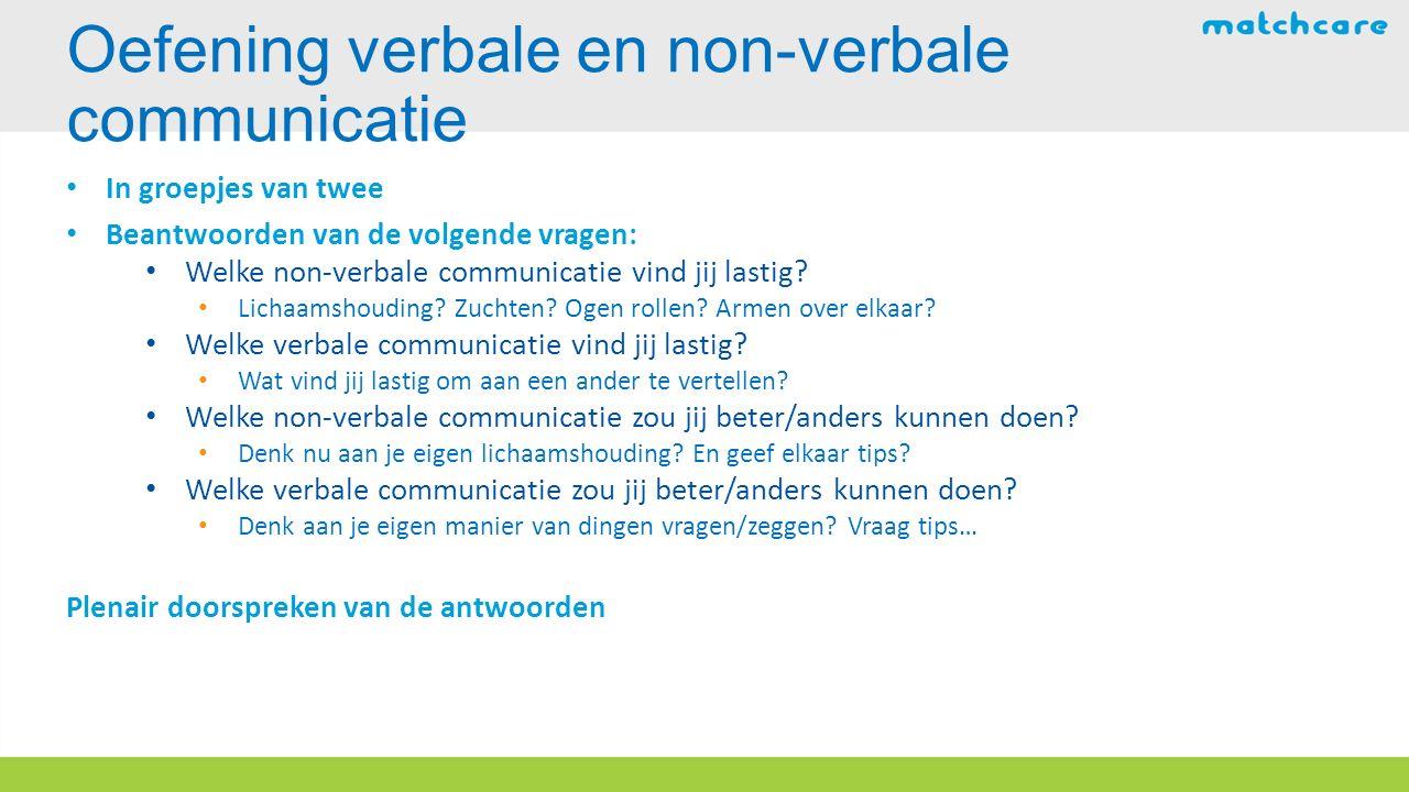 Oefening verbale en non-verbale communicatie