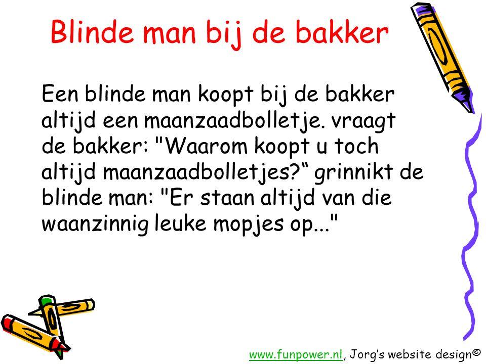 Blinde man bij de bakker