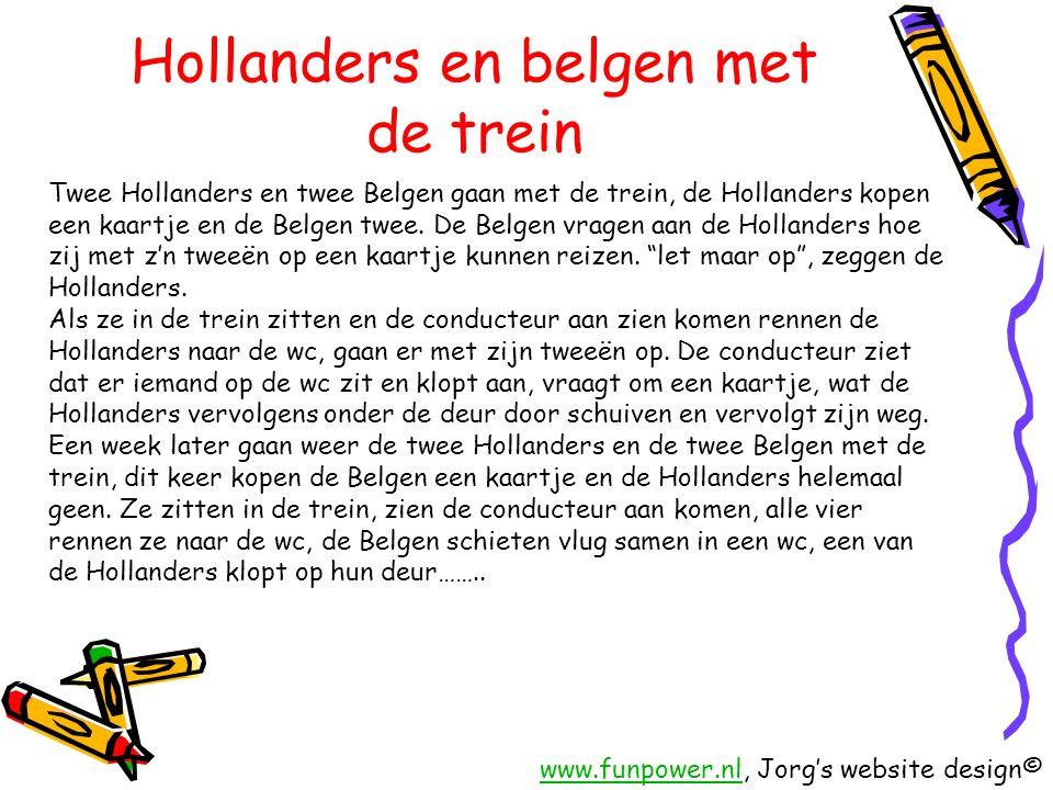Hollanders en belgen met de trein