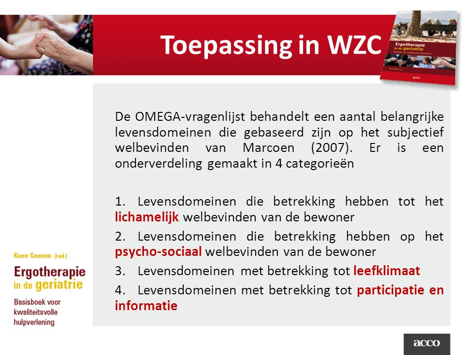 Toepassing in WZC
