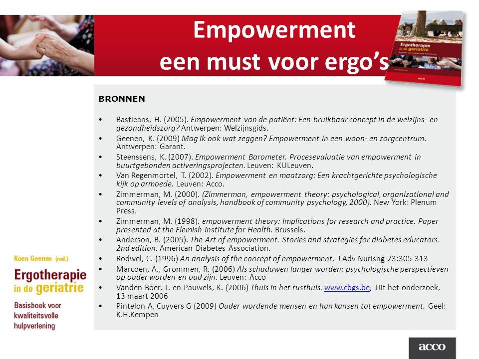 Empowerment een must voor ergo's