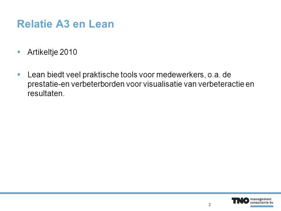 Relatie A3 en Lean Artikeltje 2010