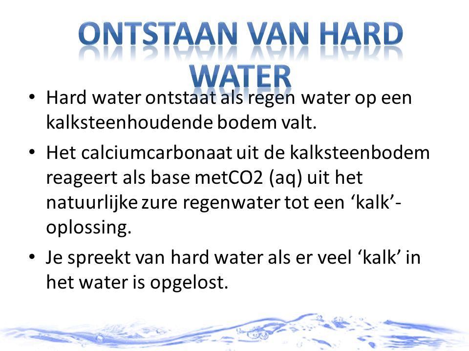 Ontstaan van hard water