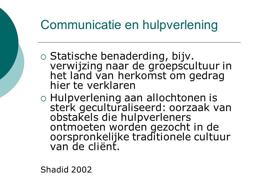 Communicatie en hulpverlening