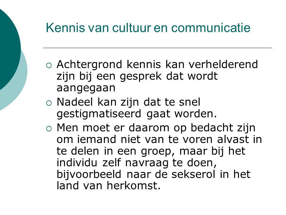 Kennis van cultuur en communicatie