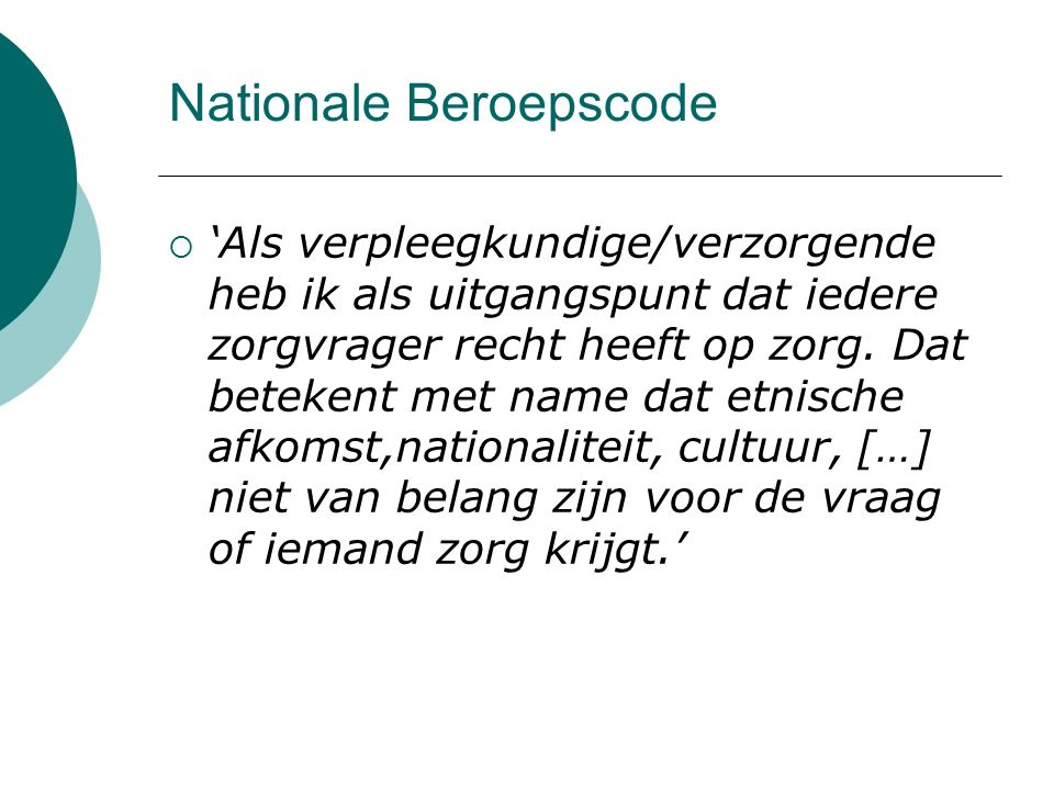 Nationale Beroepscode