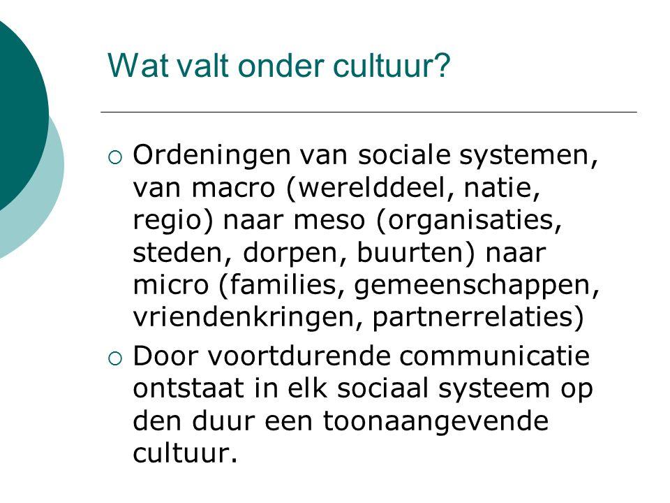 Wat valt onder cultuur