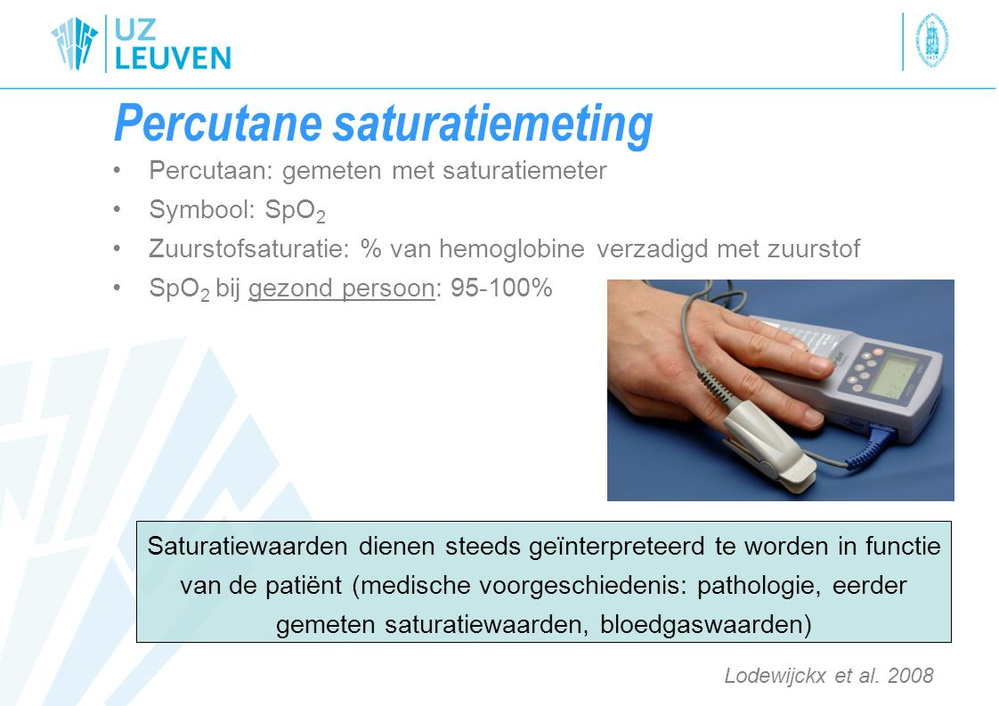 Percutane saturatiemeting
