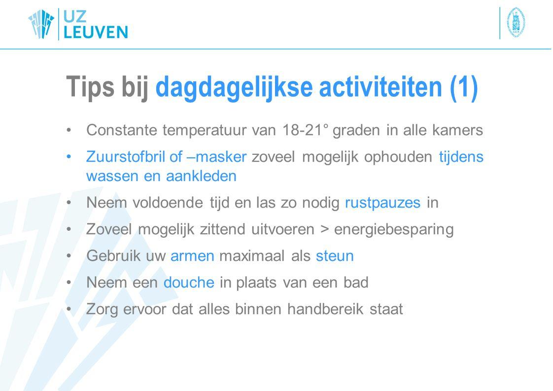 Tips bij dagdagelijkse activiteiten (1)