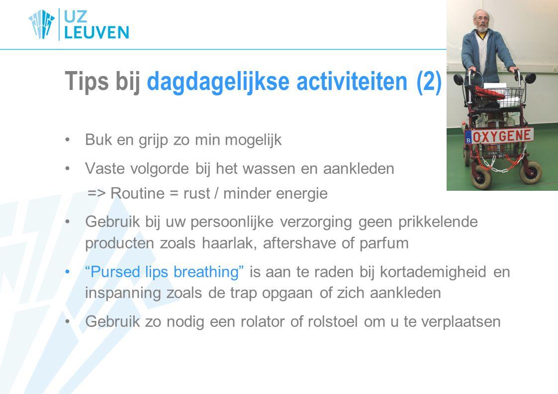 Tips bij dagdagelijkse activiteiten (2)