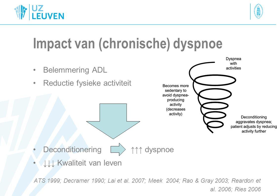 Impact van (chronische) dyspnoe
