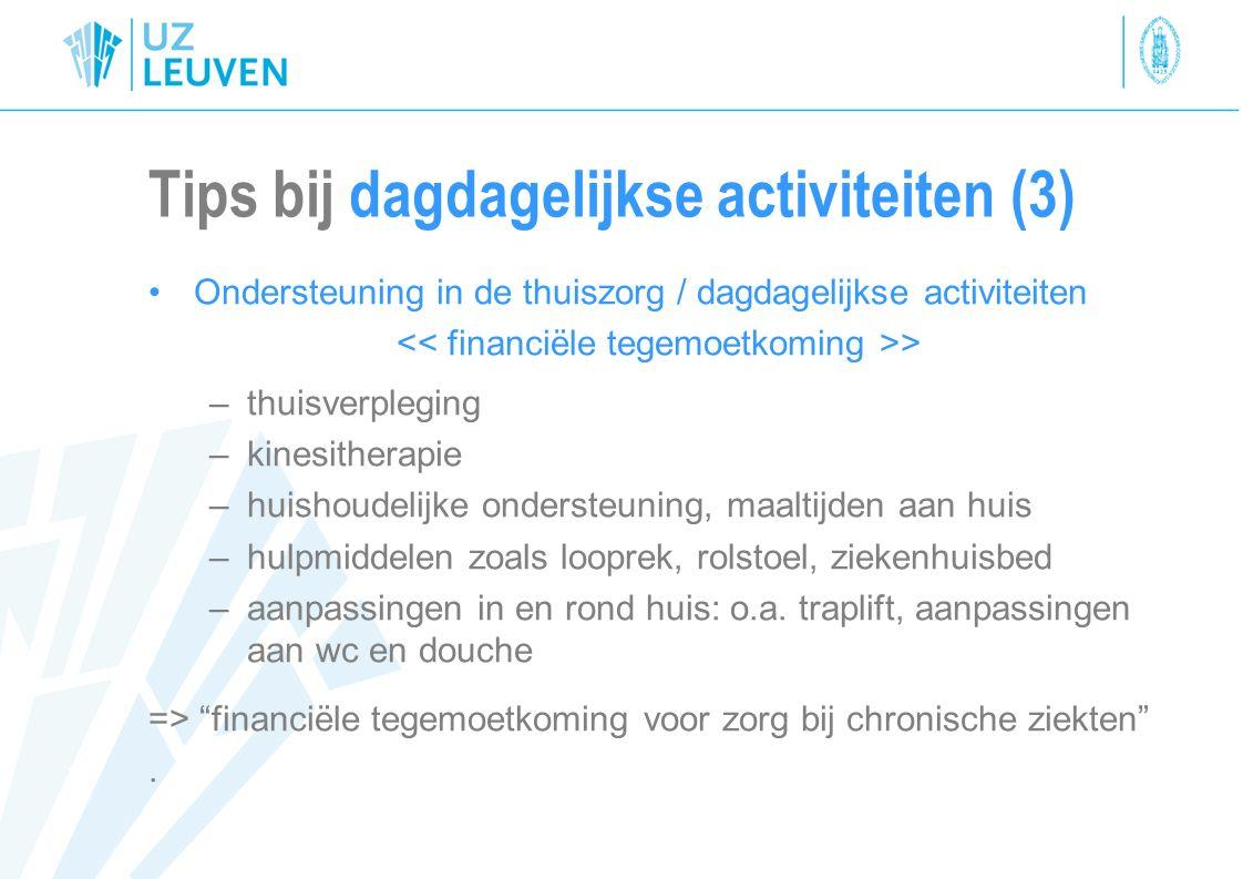 Tips bij dagdagelijkse activiteiten (3)