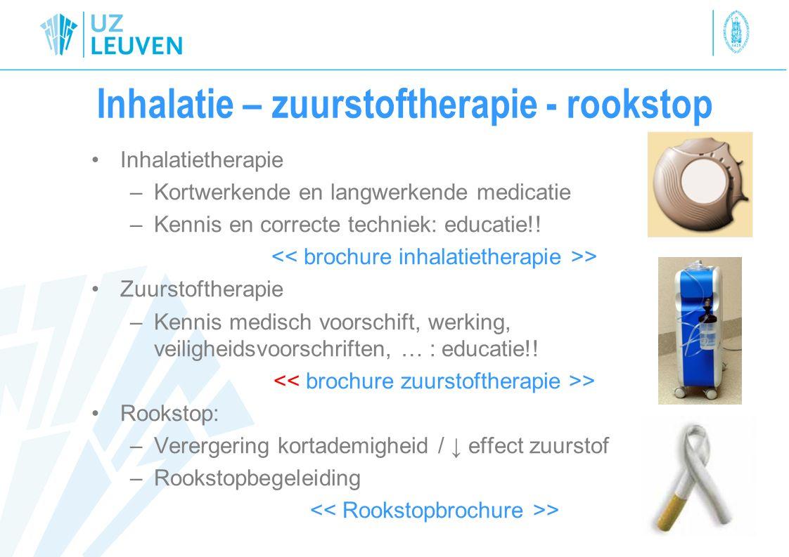 Inhalatie – zuurstoftherapie - rookstop