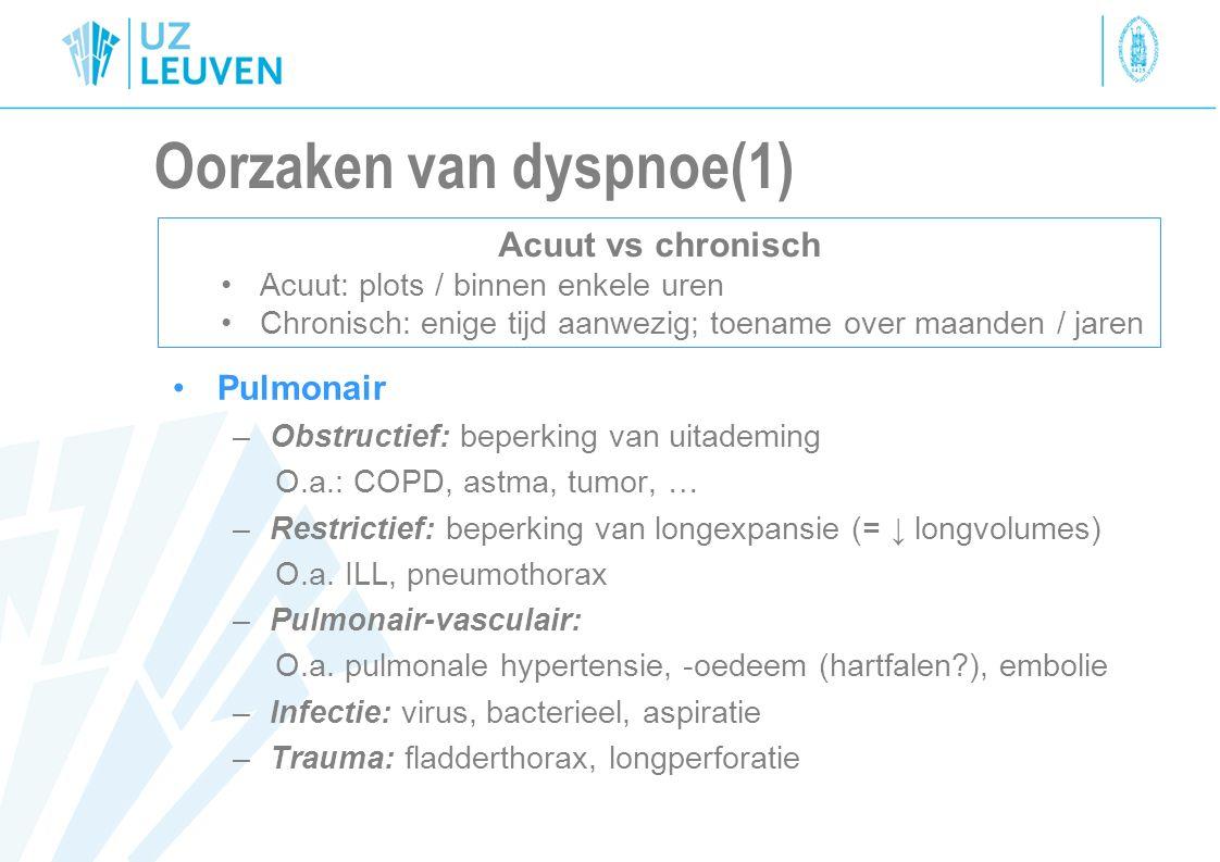 Oorzaken van dyspnoe(1)
