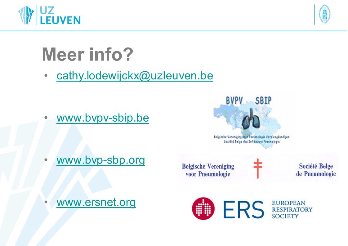 Meer info cathy.lodewijckx@uzleuven.be www.bvpv-sbip.be