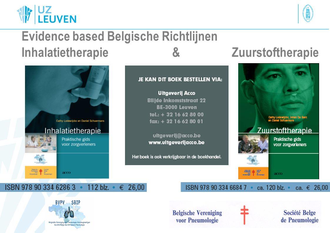 Evidence based Belgische Richtlijnen Inhalatietherapie & Zuurstoftherapie
