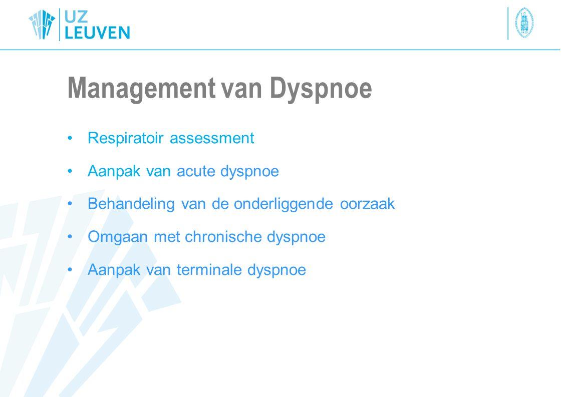Management van Dyspnoe