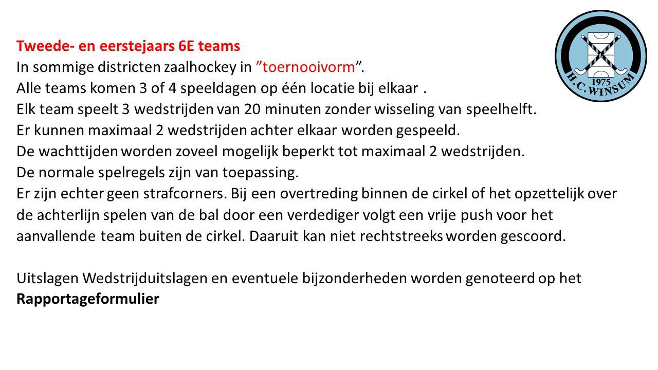 Tweede- en eerstejaars 6E teams