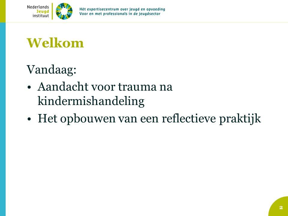 Welkom Vandaag: Aandacht voor trauma na kindermishandeling
