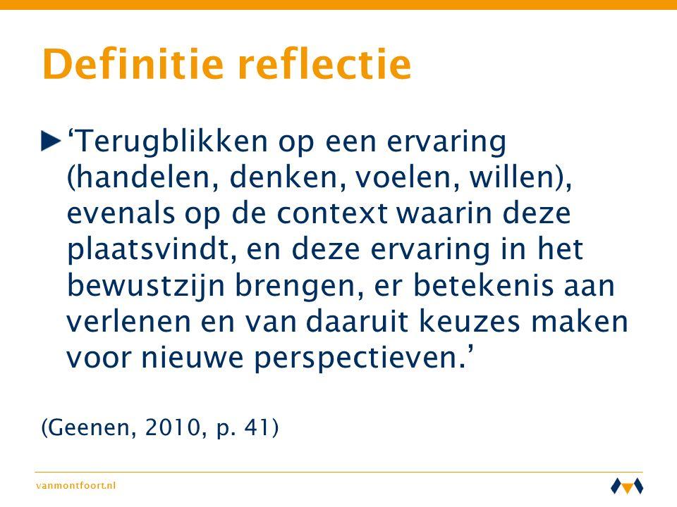 Definitie reflectie