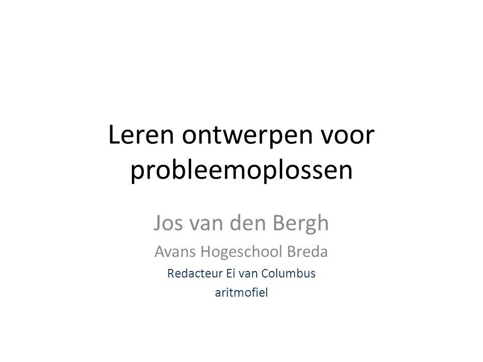 Leren ontwerpen voor probleemoplossen