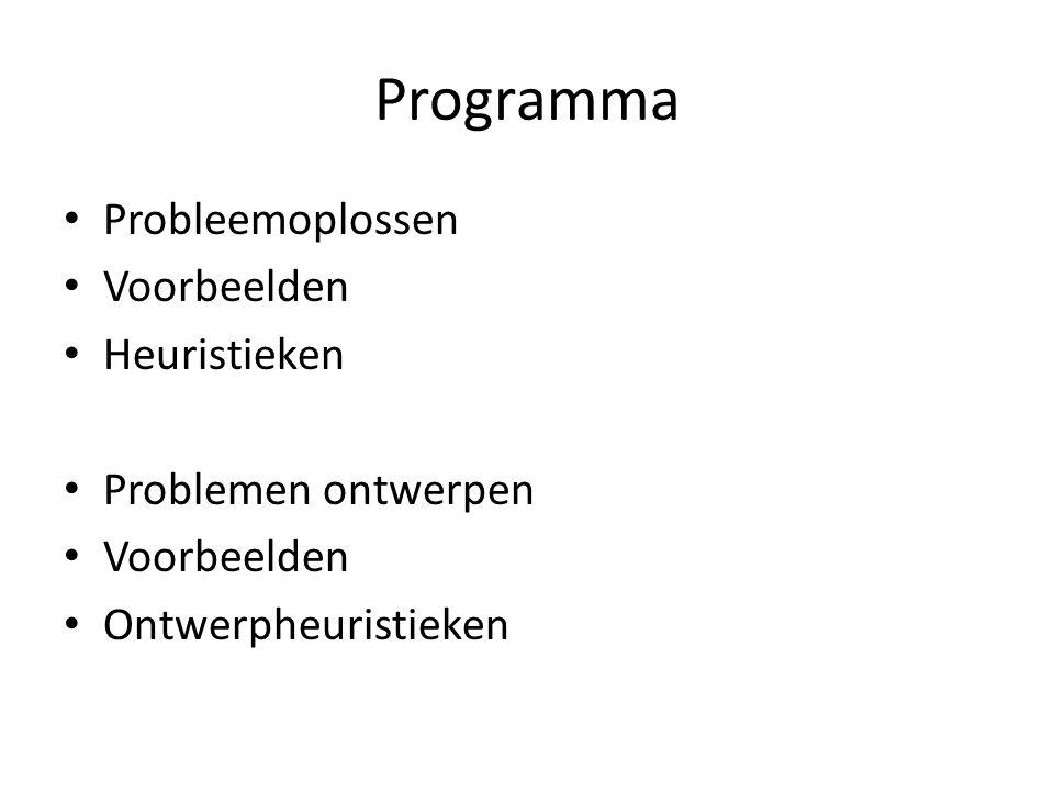 Programma Probleemoplossen Voorbeelden Heuristieken