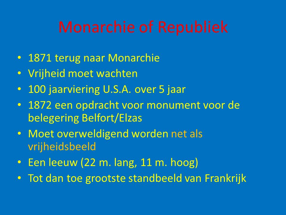 Monarchie of Republiek