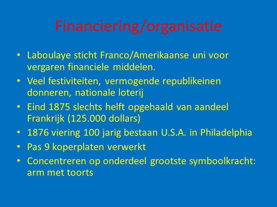 Financiering/organisatie