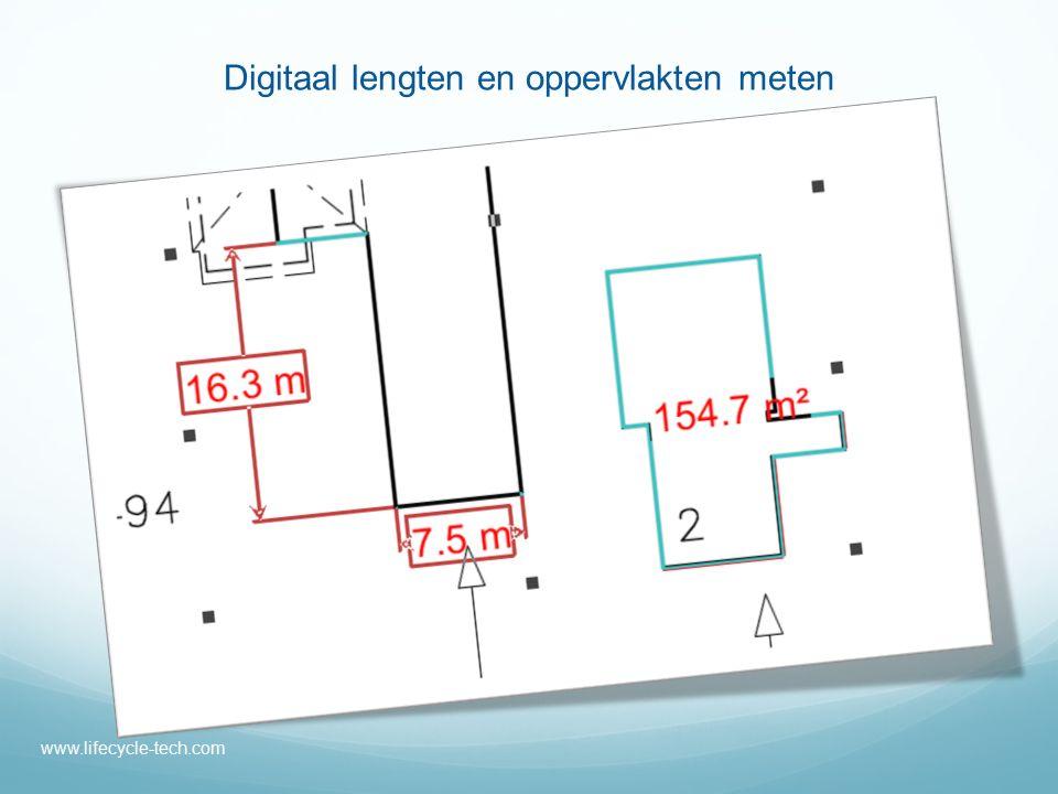 Digitaal lengten en oppervlakten meten