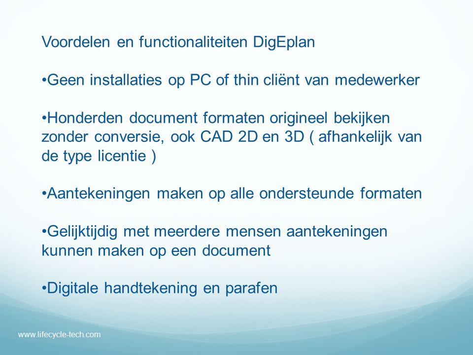 Voordelen en functionaliteiten DigEplan