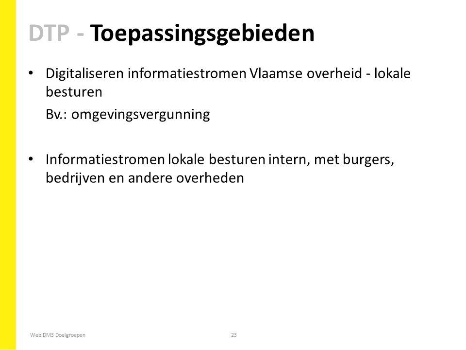 DTP - Toepassingsgebieden