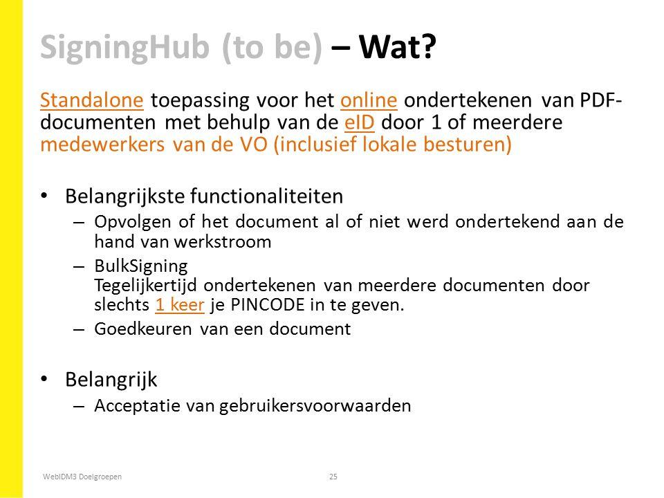 SigningHub (to be) – Wat