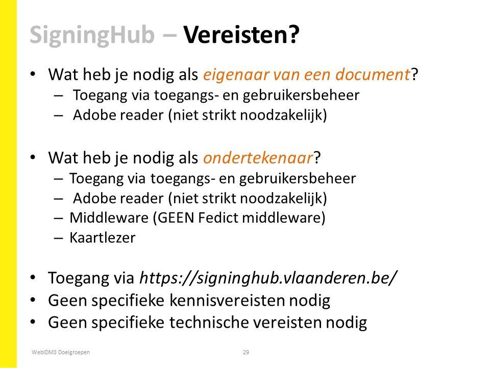 SigningHub – Vereisten