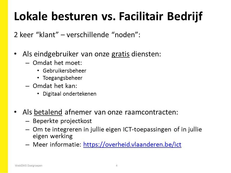 Lokale besturen vs. Facilitair Bedrijf