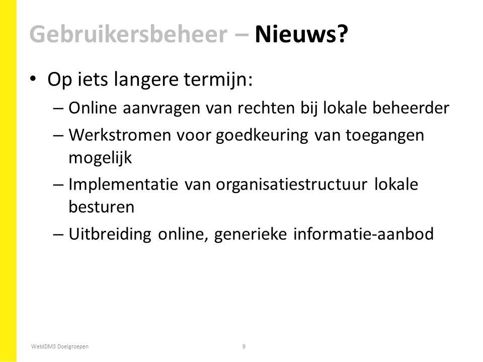 Gebruikersbeheer – Nieuws