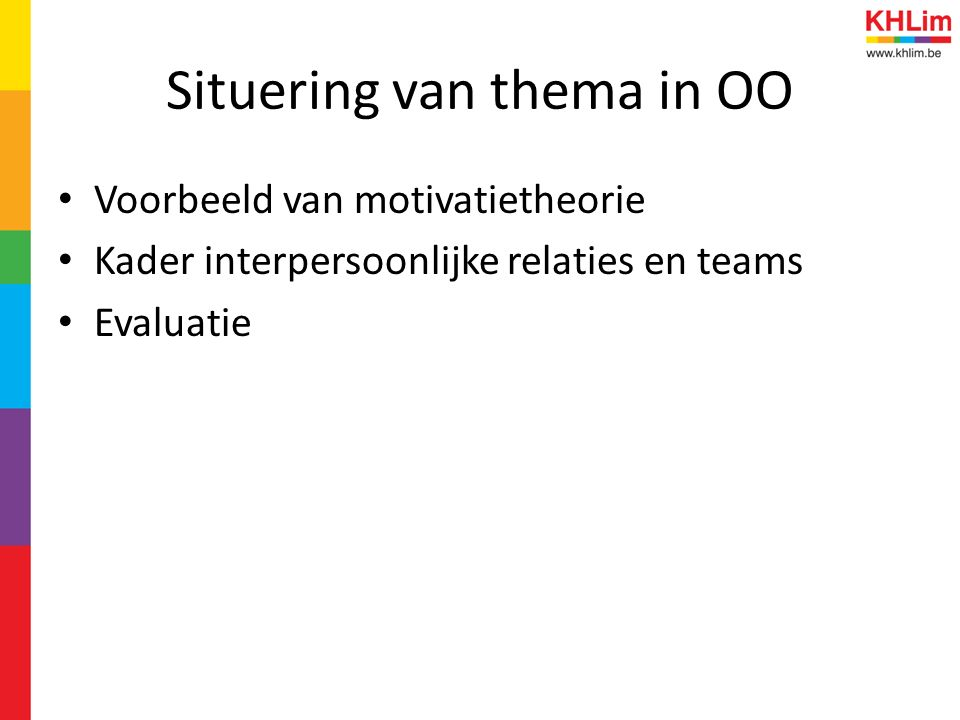 Situering van thema in OO